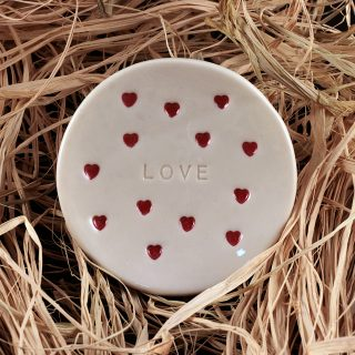 LOVE, Handmade ring holder and jewelry dish
