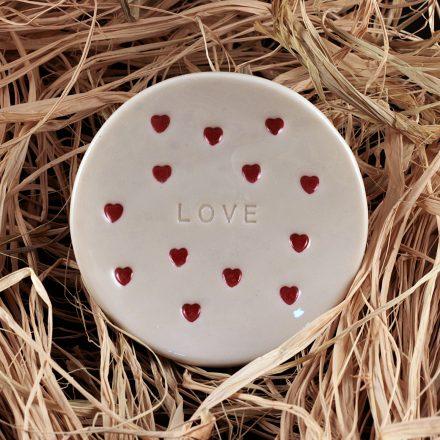 LOVE, Handmade ring holder and jewelry dish
