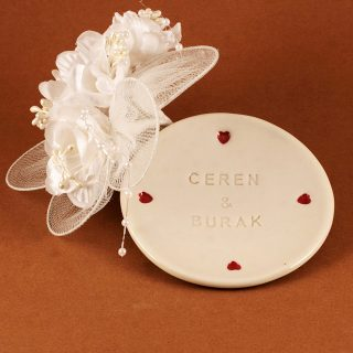 Personalized ring holder and jewelry dish